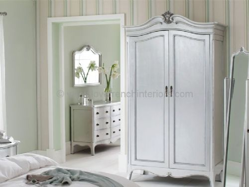 Paris Silver Double Wardrobe